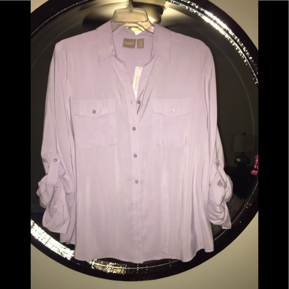 Chico's Tops - Chicos Silkie chic Sofia blouse size 2